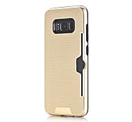 Недорогие -Кейс для Назначение SSamsung Galaxy S8 S7 Бумажник для карт Защита от удара Кейс на заднюю панель Сплошной цвет Твердый ПК для S8 Plus S8