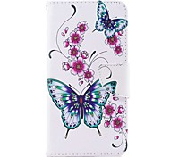 cheap -Case For Huawei Y5 III(Y5 2017) Y5 II / Honor 5 Card Holder Wallet with Stand Flip Magnetic Full Body Cases Butterfly Flower Hard PU