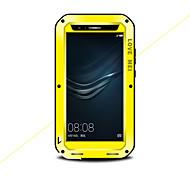 Недорогие -Кейс для Назначение Huawei P9 Вода / Грязь / Надежная защита от повреждений Чехол Сплошной цвет Твердый Металл для Huawei P9 Plus Huawei