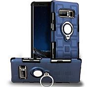 Недорогие -Кейс для Назначение SSamsung Galaxy Note 8 Защита от удара Кольца-держатели Поворот на 360° Кейс на заднюю панель Сплошной цвет Твердый ПК