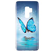 cheap -Case For Samsung Galaxy S9 S9 Plus Glow in the Dark IMD Pattern Back Cover Butterfly Shine Soft TPU for S9 Plus S9 S8 Plus S8 S7 edge S7