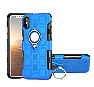 cheap -Case For Apple iPhone X Shockproof Ring Holder 360° Rotation Back Cover Solid Color Hard PC for iPhone X