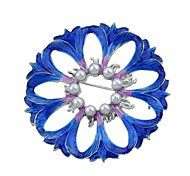cheap -Women's Brooches - Flower Basic, Fashion Brooch Blue For Daily / Date