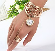 cheap -Women's Quartz Bracelet Watch Chinese Casual Watch Stainless Steel Band Bangle Gold