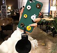 Недорогие -Кейс для Назначение Apple iPhone 6 Plus iPhone 7 Plus С узором Кейс на заднюю панель 3D в мультяшном стиле Мягкий Силикон для iPhone 8
