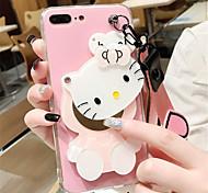 Недорогие -Кейс для Назначение Apple iPhone 6 Plus iPhone 7 Plus С узором Кейс на заднюю панель Мультипликация Мягкий ТПУ для iPhone 8 Pluss iPhone