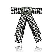Недорогие -Жен. Броши Стразы Формальная Мода европейский Ткань В форме банта Бижутерия Назначение Официальные