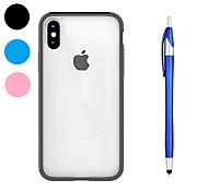 Недорогие -Кейс для Назначение Apple iPhone X iPhone 8 Plus Защита от удара Прозрачный Кейс на заднюю панель Сплошной цвет Мягкий ТПУ для iPhone X