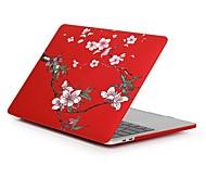 """Недорогие -MacBook Кейс Цветы пластик для Новый MacBook Pro 15"""" / Новый MacBook Pro 13"""" / MacBook Pro, 15 дюймов"""