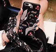 Недорогие -Кейс для Назначение Apple iPhone X iPhone 7 Plus С узором Кейс на заднюю панель Животное Мягкий ТПУ для iPhone X iPhone 8 Pluss iPhone 8