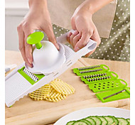 cheap -Plastics Multi-function Vegetable Fruit Cutter & Slicer, 1pc