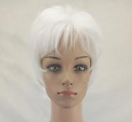 Недорогие -Парики из искусственных волос Прямой Стрижка каскад Природные волосы плотность Без шапочки-основы Жен. Белый Парики для вечеринки Парик