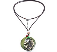 cheap -Women's Pendant Necklace - Natural Cool Gothic Fish Brown Necklace For Office & Career Practice