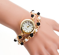 cheap -Women's Bracelet Watch Chinese Quartz Casual Watch Alloy Band Pearls Fashion Gold