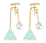 cheap -Women's Cute Ball Turquoise / Rhinestone / Imitation Pearl Crystal / Imitation Pearl Drop Earrings - Fashion Light Blue Geometric Earrings