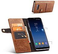 Недорогие -Кейс для Назначение SSamsung Galaxy S8 Plus S8 Бумажник для карт Кошелек Защита от удара со стендом Флип Чехол Сплошной цвет Твердый Кожа