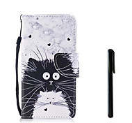 cheap -Case For Apple iPhone X iPhone 8 Card Holder Wallet Flip Full Body Cases Cat Hard PU Leather for iPhone X iPhone 8 Plus iPhone 8 iPhone 7