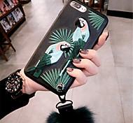 Недорогие -Кейс для Назначение Apple iPhone X iPhone 7 Plus С узором Кейс на заднюю панель 3D в мультяшном стиле Мягкий ТПУ для iPhone X iPhone 8