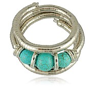 cheap -Women's Turquoise Ball Wrap Bracelet - Vintage Casual Silver Bracelet For Daily