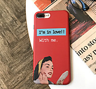 cheap -Case For Apple iPhone X / iPhone 7 Plus Pattern Back Cover Sexy Lady Soft TPU for iPhone X / iPhone 8 Plus / iPhone 8