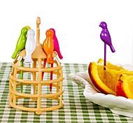 Недорогие -пластик Обычные Милый Овощная вилка Торт-вилка Вилки, Высокое качество 1шт
