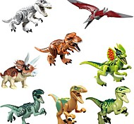 cheap -Original Jurassic World Tyrannosaurus Building Blocks Jurrassic Park Interlocking Blocks Toy Toys Dinosaur Animals Classic 8pcs Pieces