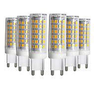 cheap -YWXLIGHT® 6pcs 9W 750-850lm G9 LED Bi-pin Lights T 76 LED Beads SMD 2835 Dimmable Warm White Cold White Natural White 220-240V