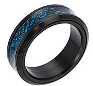 cheap -Men's Band Ring - Geometric Fashion Gold Black Silver Ring For Daily