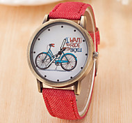 cheap -Women's Quartz Chinese Casual Watch Leather Band Fashion Black White Blue Red Brown Green Grey Pink Yellow