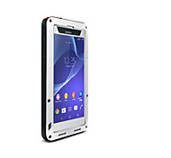 Недорогие -Кейс для Назначение Sony Xperia Z2 Вода / Грязь / Надежная защита от повреждений Чехол Сплошной цвет Твердый Металл для Sony Xperia Z2