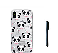 cheap -Case For Apple iPhone X iPhone 8 Plus Translucent Back Cover Panda Soft TPU for iPhone X iPhone 8 Plus iPhone 7 Plus iPhone 7 iPhone 6s