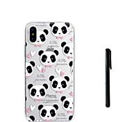 abordables -Coque Pour Apple iPhone X iPhone 8 Plus Translucide Coque Panda Flexible TPU pour iPhone X iPhone 8 Plus iPhone 7 Plus iPhone 7 iPhone 6s