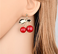 cheap -Women's Leaf Drop Earrings - Fashion / Sweet Red Earrings For Gift / Evening Party