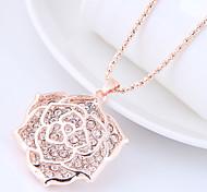preiswerte -Damen Lang Anhängerketten - Blumen / Botanik, Blume Süß, Modisch Gold Modische Halsketten Für Normal