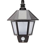 baratos -YWXLIGHT® 1pç 3W Luzes Solares LED Impermeável Controle de luz Decorativa Iluminação Externa Branco Quente Branco DC3.7V