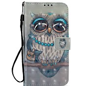 cheap -Case For Motorola MOTO Z2 play Card Holder Wallet with Stand Flip Magnetic Full Body Cases Owl Hard PU Leather for Moto Z2 play Moto G5s