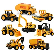 cheap -Mini Alloy engineering Car Truck Construction Truck Set Toy Truck Construction Vehicle Toy Car 1:64 Metal Alloy 8pcs Kid's Toy Gift