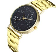 cheap -Men's Women's Quartz Unique Creative Watch Casual Watch Chinese Large Dial Punk Moon Phase Stainless Steel Band Fashion Cool Gold