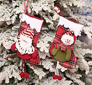 abordables -Medias de Lencería Vacaciones Familia Navidad Separado Hecho a Mano Bolsas Múltiples Funciones Decoración navideña
