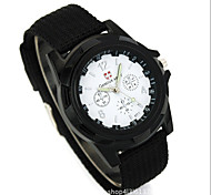Недорогие -Муж. Китайский Кварцевый Повседневные часы Материал Группа Мода Черный Синий Тёмно-зелёный