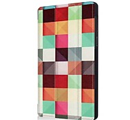 preiswerte -Hülle Für Lenovo Tab 7 mit Halterung Origami Ganzkörper-Gehäuse Geometrische Muster Eule Eiffelturm Hart PU-Leder für Lenovo Tab 7