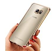 Недорогие -Кейс для Назначение SSamsung Galaxy A8 2018 A8 Plus 2018 Покрытие Ультратонкий Прозрачный Body Кейс на заднюю панель Однотонный Мягкий ТПУ