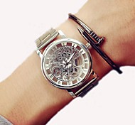 cheap -Women's Digital Dress Watch Chinese Chronograph / Casual Watch / Cool Word / Phrase Stainless Steel Band Casual / Fashion Silver / Gold