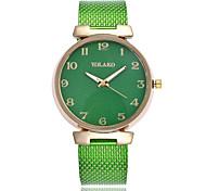 Недорогие -Жен. Кварцевый Модные часы Китайский Повседневные часы Plastic Группа минималист Черный Белый Синий Красный Зеленый Золотистый Розовый