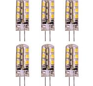baratos -WeiXuan 6pcs 2W 160lm G4 Luminárias de LED  Duplo-Pin T 24 Contas LED SMD 2835 Branco Quente Branco Frio 12V