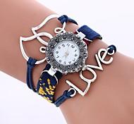 cheap -Women's Quartz Fashion Watch Chinese Large Dial Fabric Band Heart shape Fashion Black White Blue Brown Pink Rose