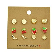 cheap -Women's Stud Earrings - Casual Fashion Circle Sun Cherry Strawberry For Gift Date