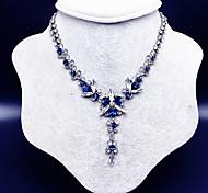 preiswerte -Damen Y Halskette - Blume Europäisch, Modisch Blau 40 cm Modische Halsketten Für Hochzeit, Party