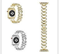 economico -Cinturino per orologio  per Apple Watch Series 3 / 2 / 1 Apple Cinturino sportivo Acciaio inossidabile Custodia con cinturino a strappo