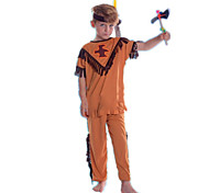 Недорогие -Индийский Костюм Детские Хэллоуин Фестиваль / праздник Костюмы на Хэллоуин Оранжевый Американский / США Этнический